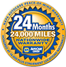 24 Month / 24K Miles Nationwide Warranty